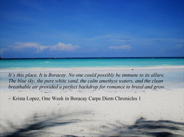 Boracay Krista Quote