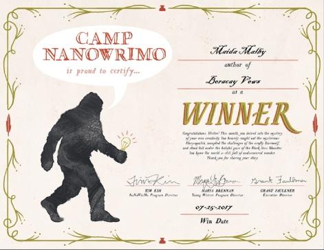 CampNaNoWinnerCertificate