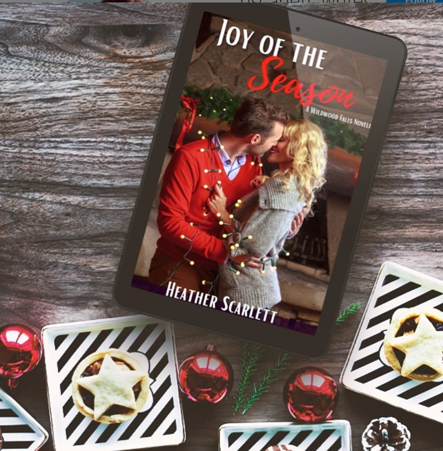 ereader showing the cover of Joy of the Season